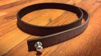 Wrist ruler - Måttarmband i mörkt skinn 38,1 cm / 15 inches