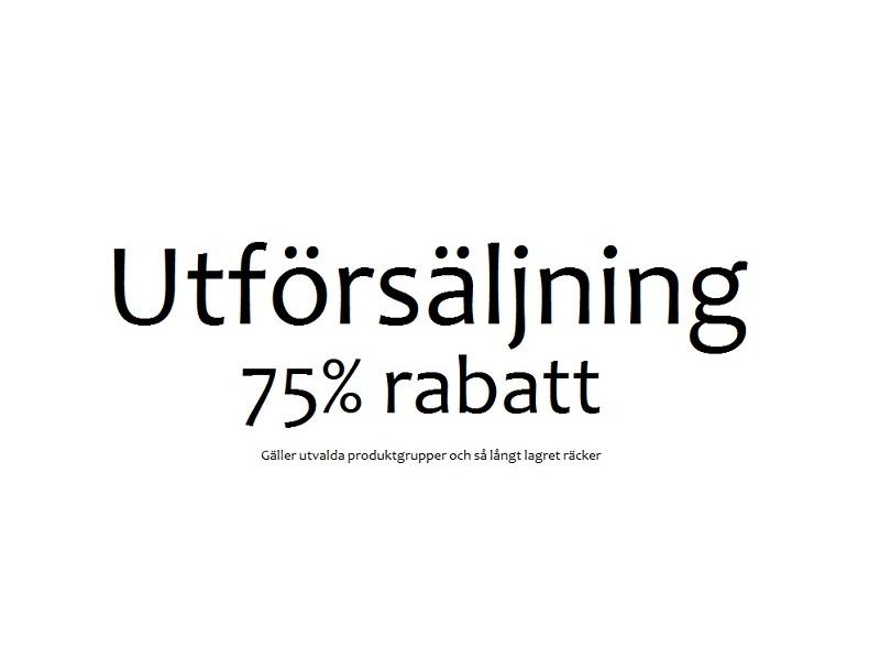 UTFÖRSÄLJNING 75% RABATT